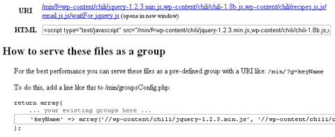 screenshot of Javascript group